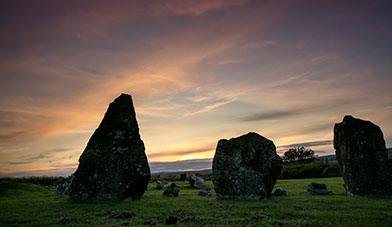 Beaghmore Stones at Sunset