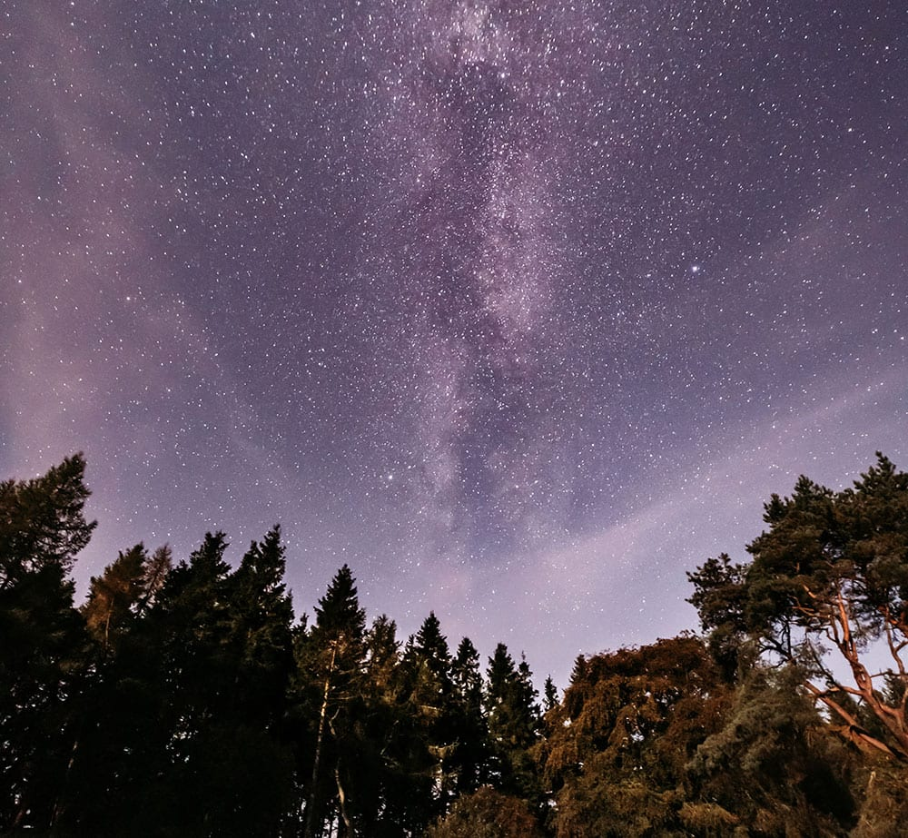 The milky way over davagh forest
