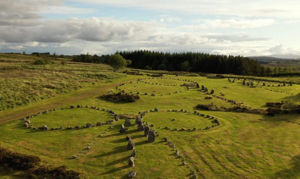 Ariel view of Beaghmore Stone Circles