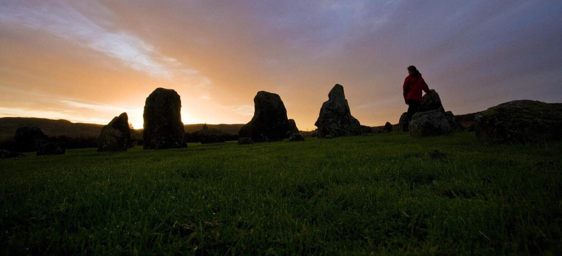 Beaghmore Stone Circles at Sunset